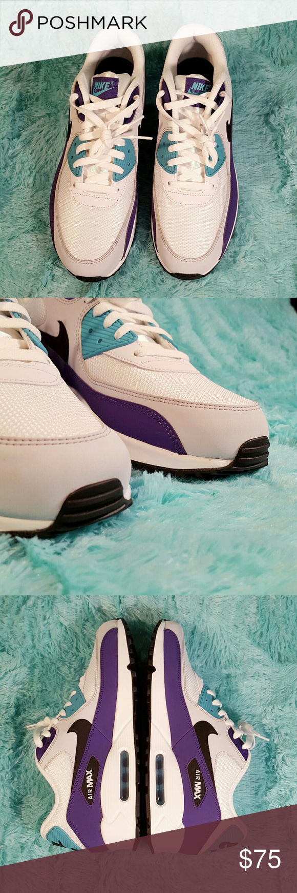 Sz 12 Nike Air Max 90 Essential Grape New without box Black
