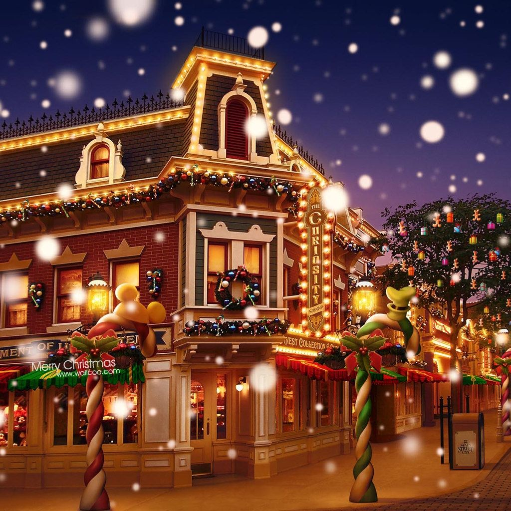 Christmas Decorations For Disneyland: Disneyland Christmas Town With