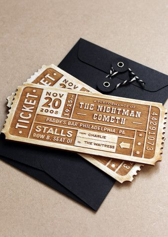 PERSONALISED TICKET - EVENT ticket Pinterest Direct mail and