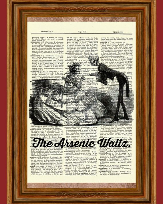 The Arsenic Waltz Dictionary Art Print Quote by BlackCatzDesigns