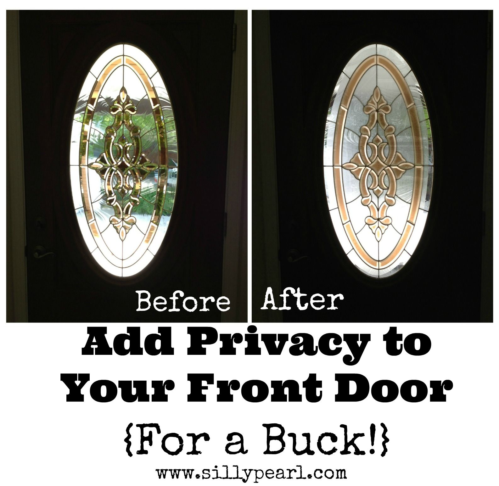 Add Privacy To A Glass Front Door For A Dollar Home Chicago
