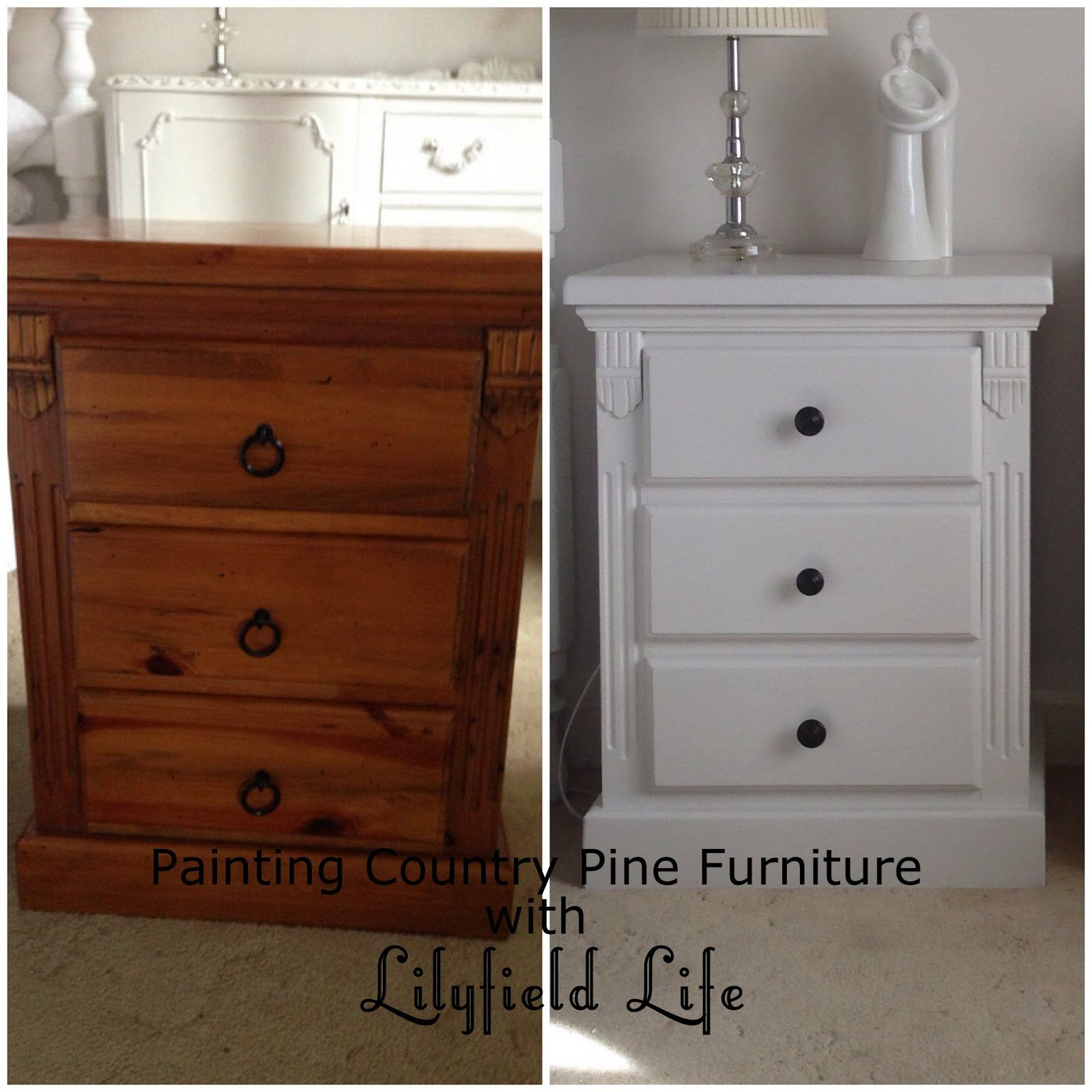Lilyfield life painting country pine furniture dealing with distressed fake wormholes