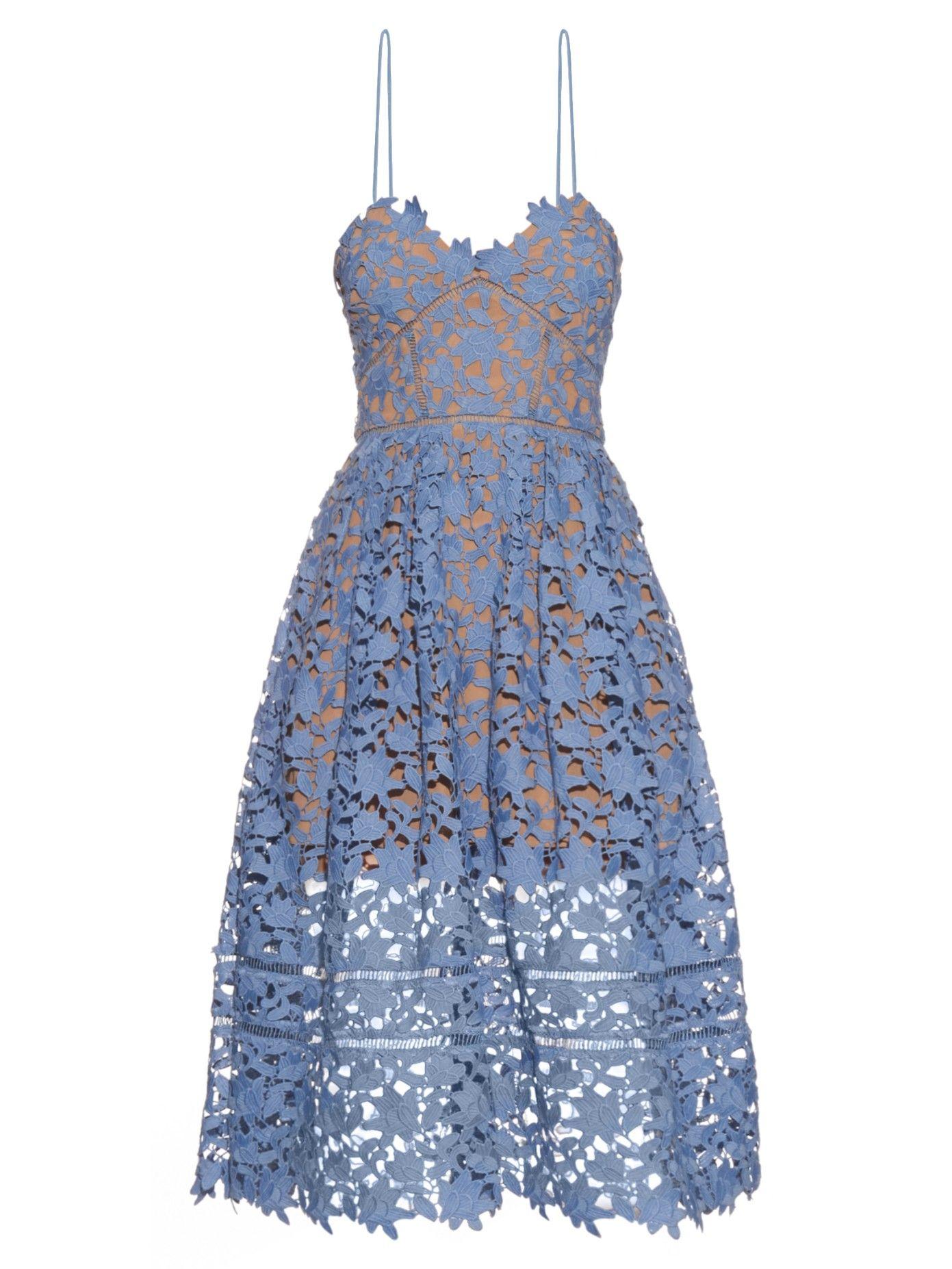 Azaelea lace midi dress | Self-portrait | MATCHESFASHION.COM US ...