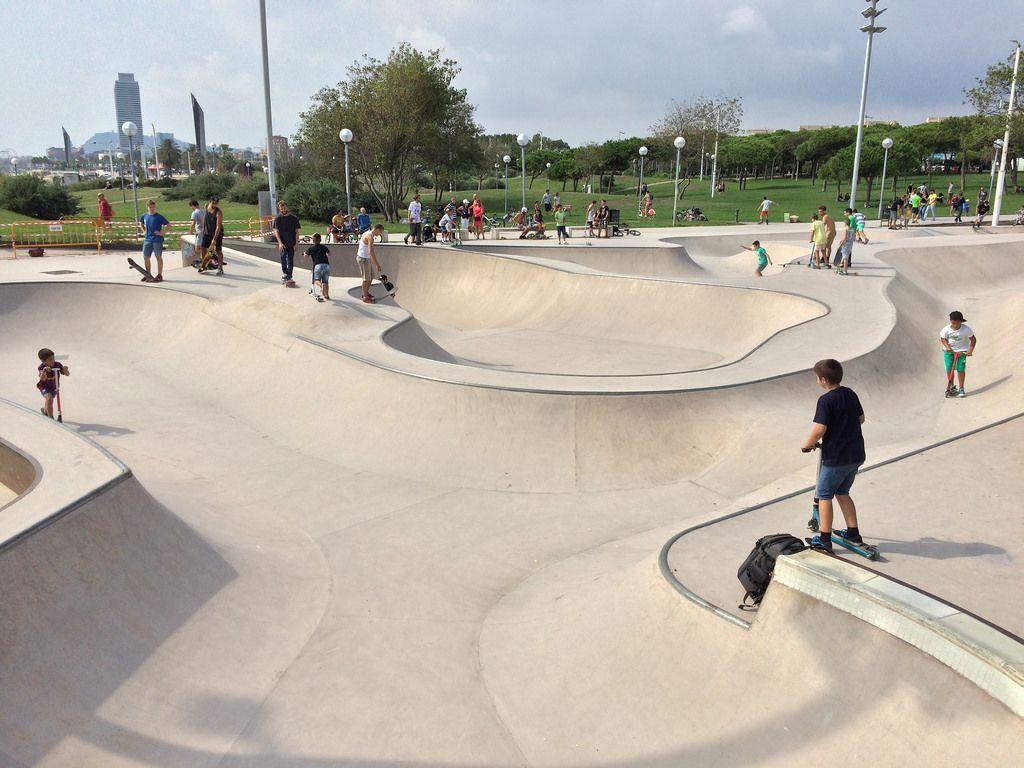La Mar Bella Skatepark Parques Fotos Barcelona