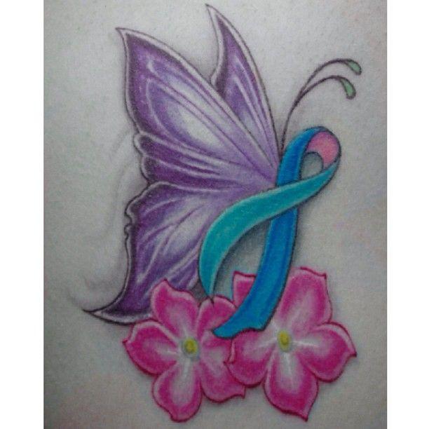 Memorial Cancer Ribbon Tattoos Cancer Survivor Tattoo Cancer Tattoos