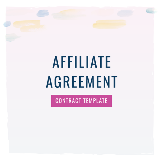 Affiliate Agreement Contract Template Contract Templates