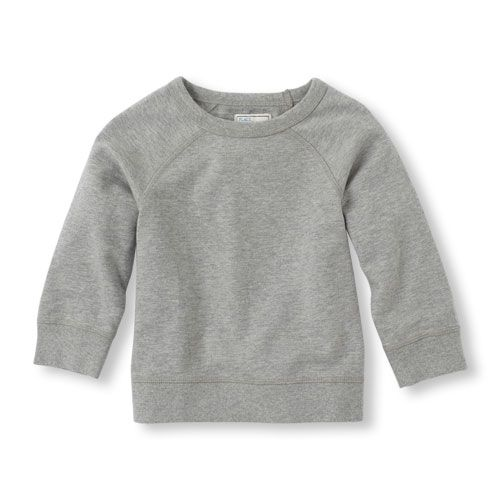 Baby Boys Uniform Crew Neck Sweatshirt - Gray - The Children's ...