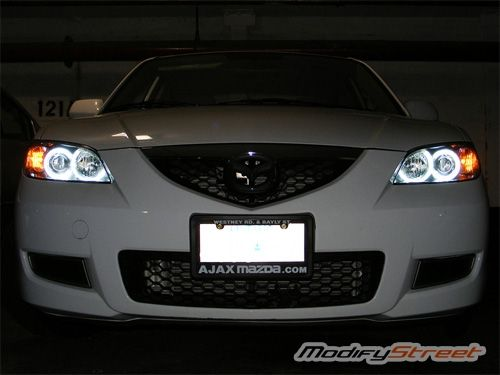 Mazda 3 Halo Lights Ccfl Angel Eyes Rings Inverters For 04 08 Headlights