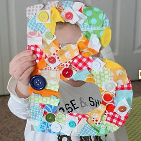 Manualidades con letras para bebes y ni os peque os - Manualidades de navidad para ninos pequenos ...