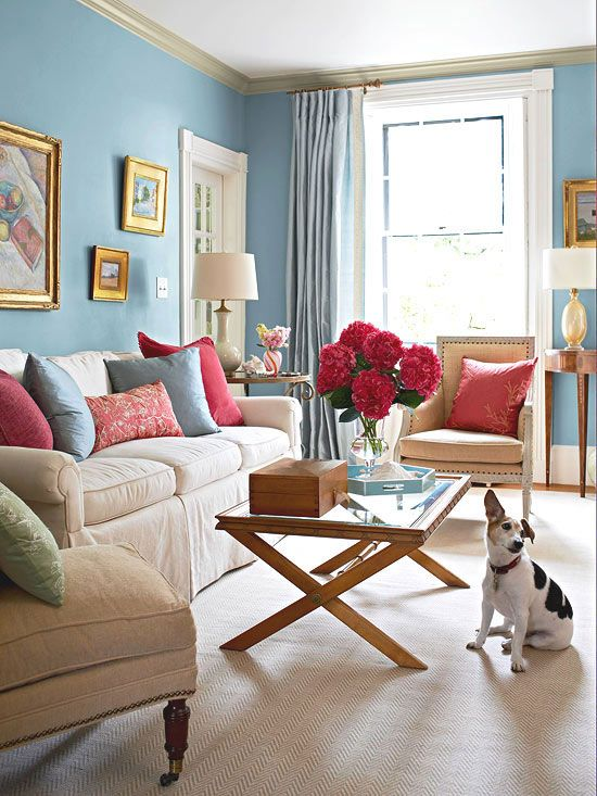 Feminine Color Scheme Sky Blue Pink A Pairing Of Blue Walls And