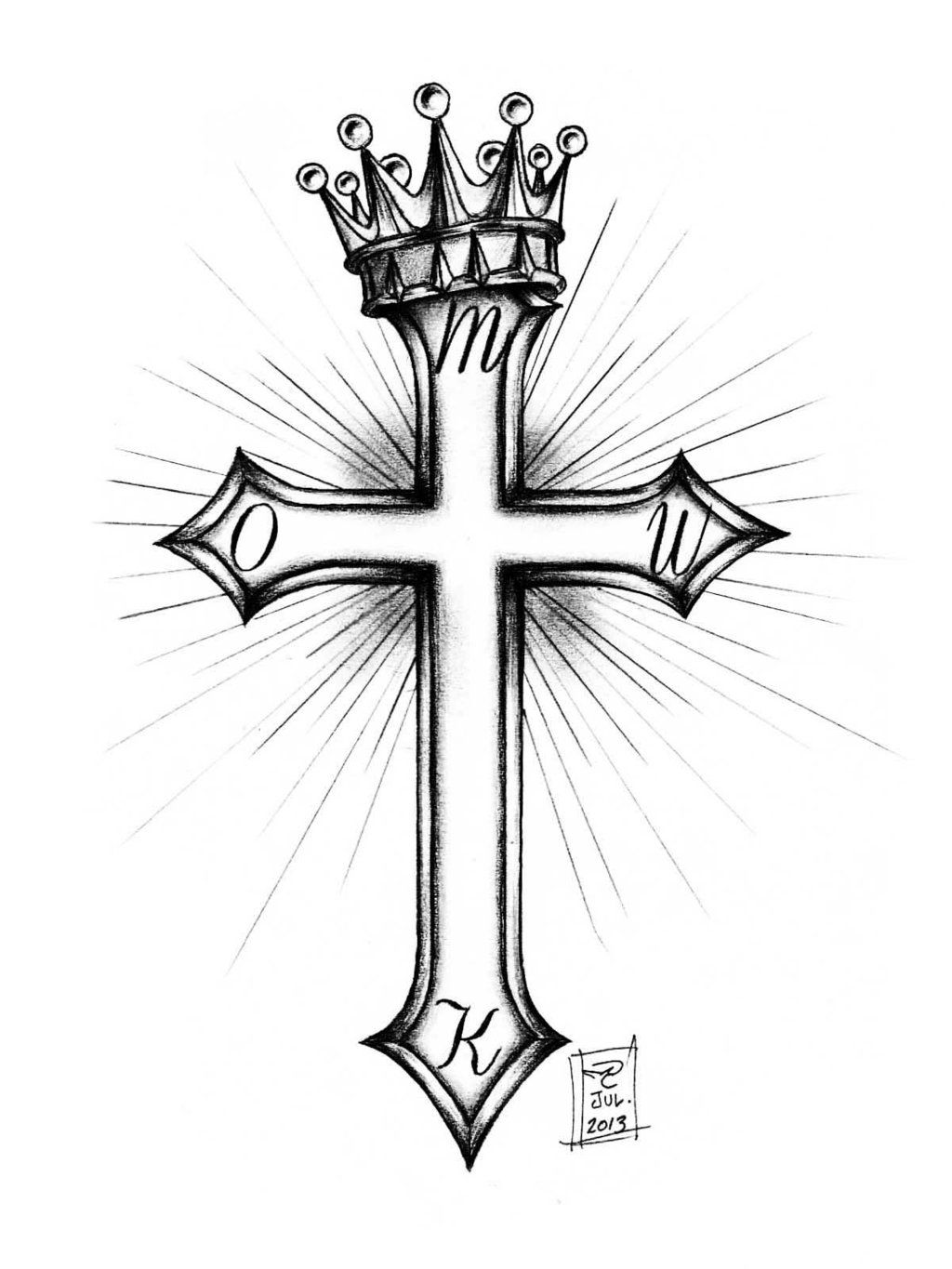 Think Like A Queen Tatouage Croix Dessins Tatouage Croix