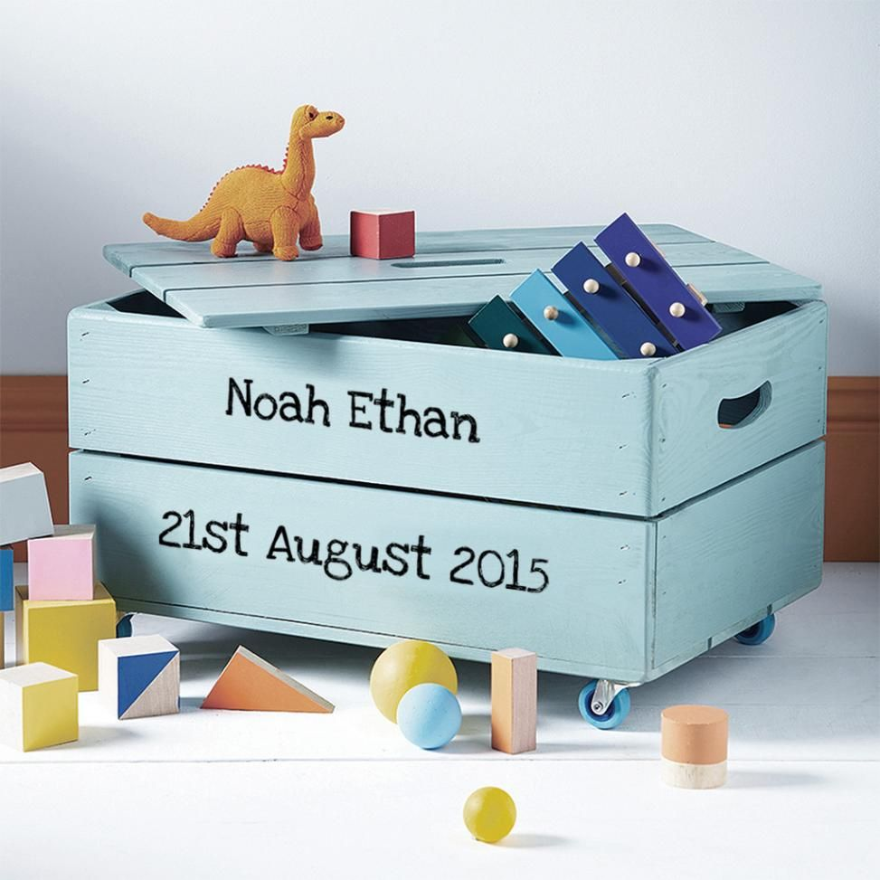 Charmant Personalised Kids Toy Box Storage Crate