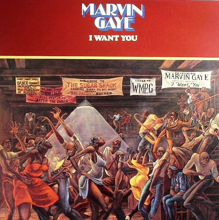"""Marvin Gaye Album Cover Featuring The Painting """"Sugar"""