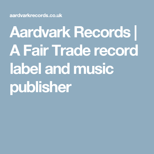 A Fair Trade Record Label And Music