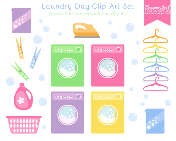 laundry day clip art set clip art laundry and scrapbook designs rh pinterest co uk Balloon Volleyball Clip Art Craft Supplies Clip Art
