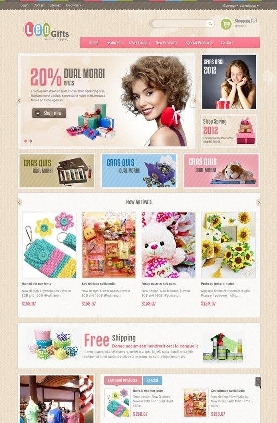 free download leo gifts prestashop theme with images