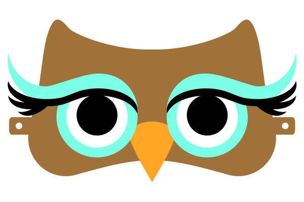 eulenmaske passend zum eulenkost m eulen owls owl. Black Bedroom Furniture Sets. Home Design Ideas