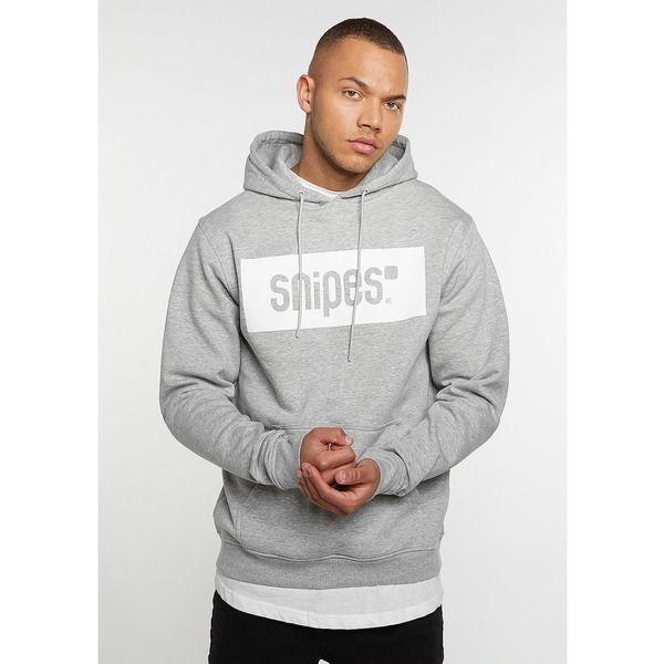 Das SNIPES Hooded Sweatshirt Box Logo heather im SNIPES