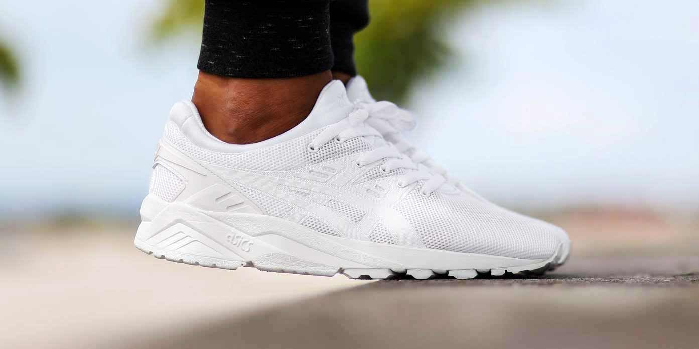 asics tiger kayano trainer evo white