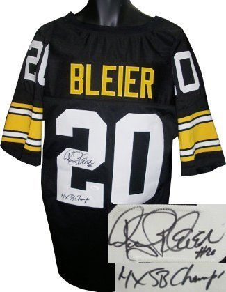 detailed look 5c8b0 b60a7 Rocky Bleier signed Pittsburgh Steelers Black Prostyle ...