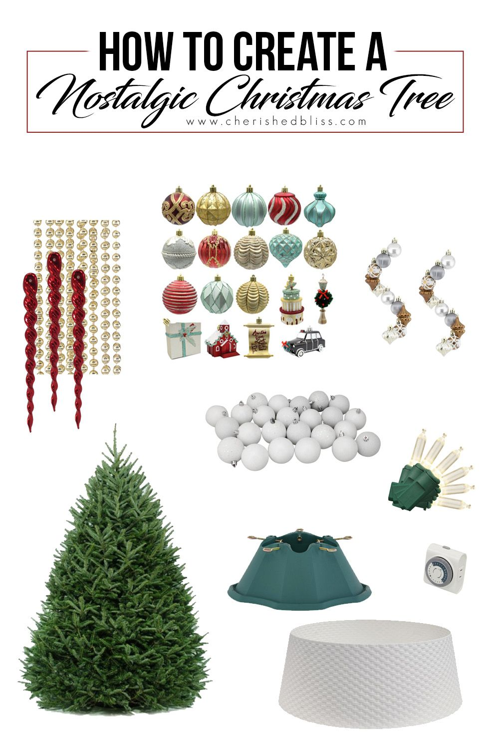 Classic Nostalgic Christmas Tree Cherished Bliss In 2020 Work Diy Cool Diy Projects Christmas Tree Decorations
