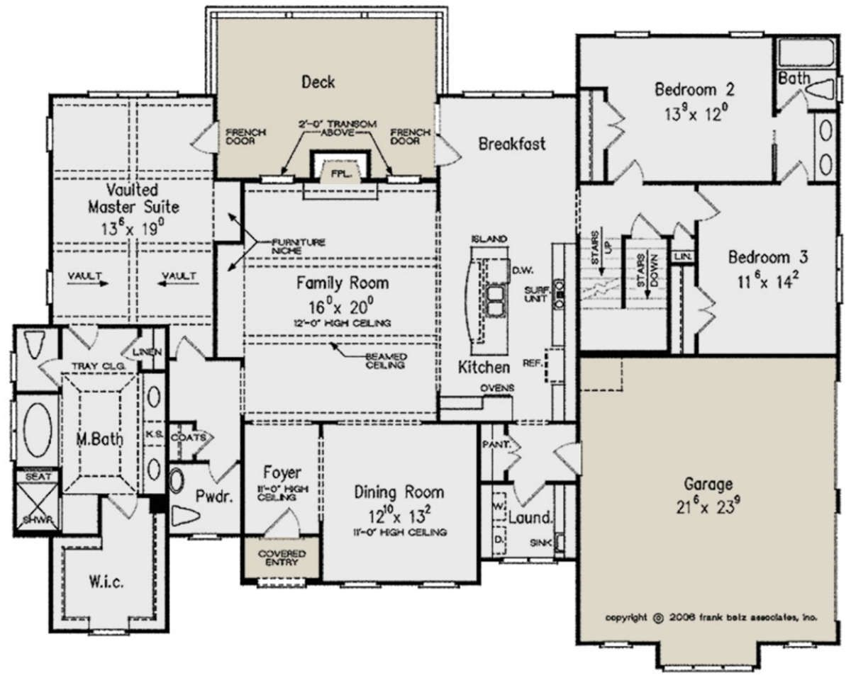 House Plan 8594 00247 European Plan 2 302 Square Feet 3 Bedrooms 2 5 Bathrooms European Plan House Plans French Country House Plans