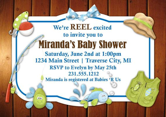 Fishing baby shower invitation fishing baby showers shower fishing baby shower invitation filmwisefo Image collections