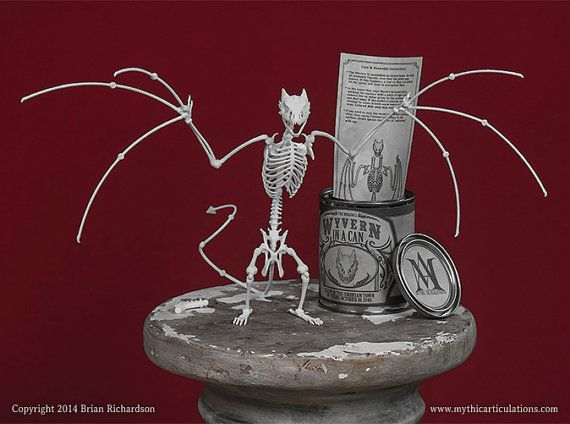 It's my birthday soon. I've always wanted a dragon! Wyvern in a Can 3D Print Taxidermy Poseable by MythicArticulations