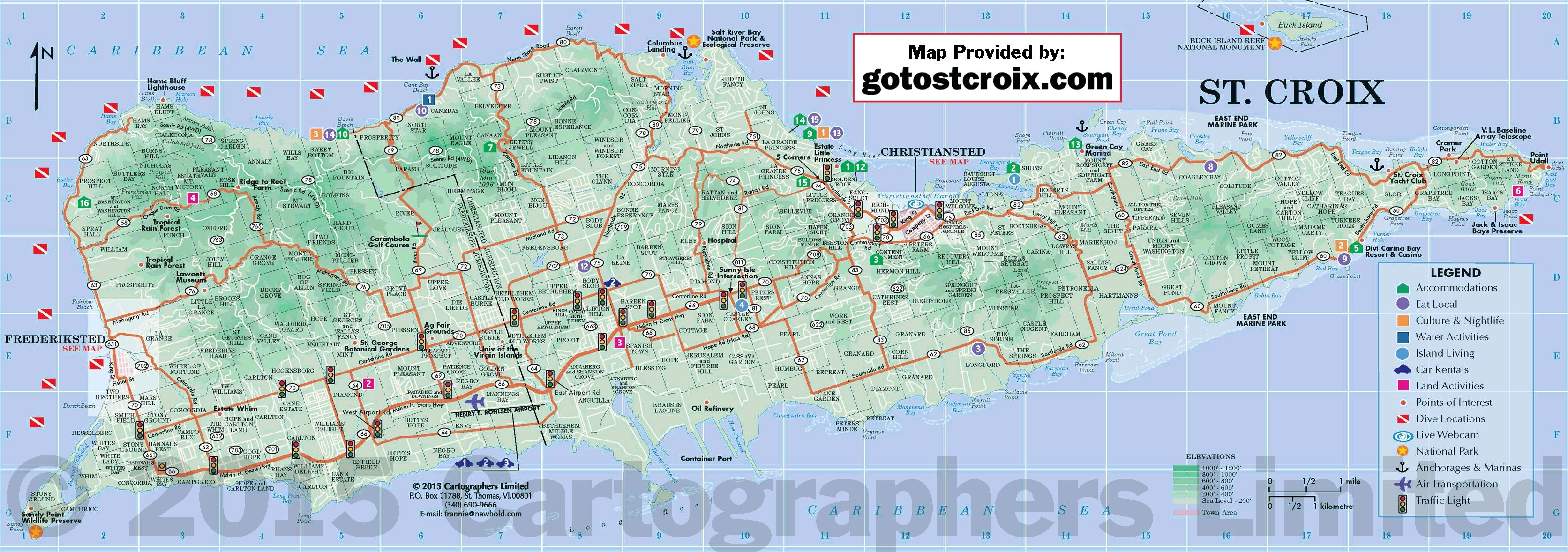 Pin by Villa Margarita St Croix on St Croix Map | Island map ...