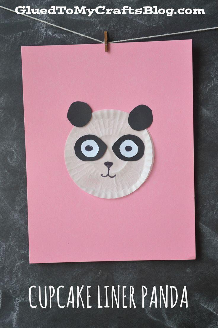 Cupcake Liner Panda Kid Craft & Paper Plate Panda Kid Craft | Cupcake liners Panda and Crafts