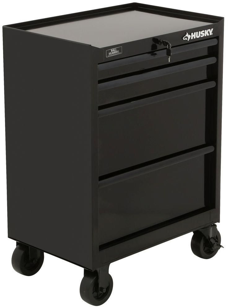 Husky 27 In Mechanics 4 Drawer Tool Box Storage Rolling