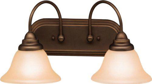 Kichler Lighting 5992OZ 2 Light Telford Bathroom Light, Olde Bronze ...