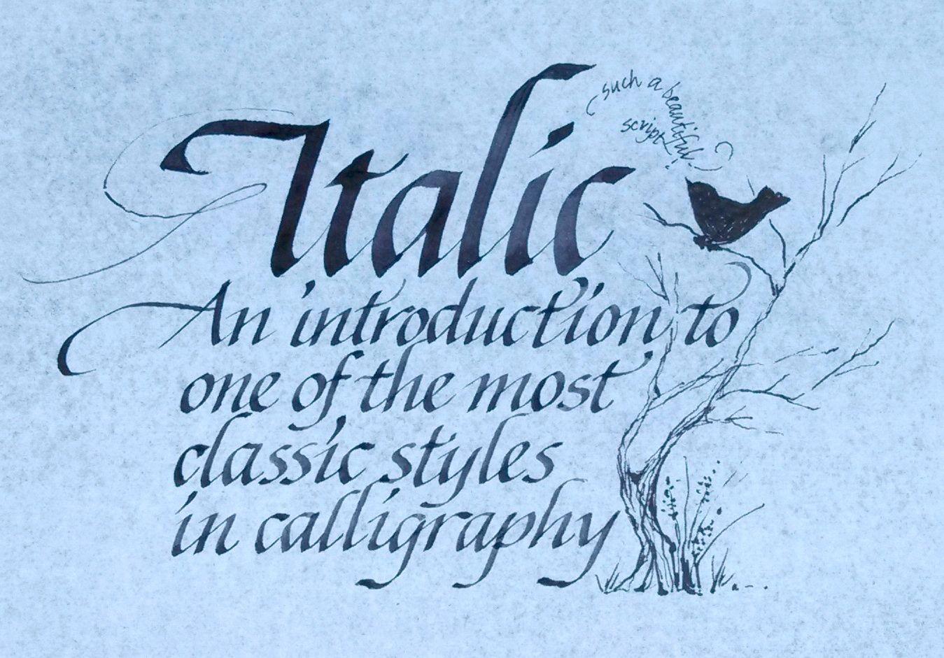 Calligraphy Italic Hledat M