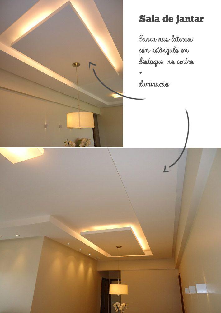 Orçamento e ideias para o gesso Iluminação Pinterest Sala de - Techos Interiores Con Luces