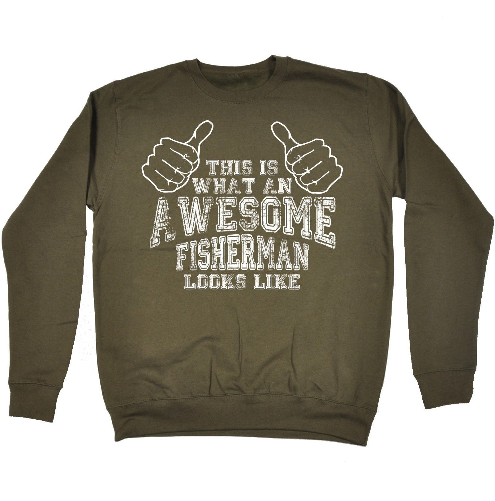 123t USA This Is What An Awesome Fisherman Looks Like Funny Sweatshirt