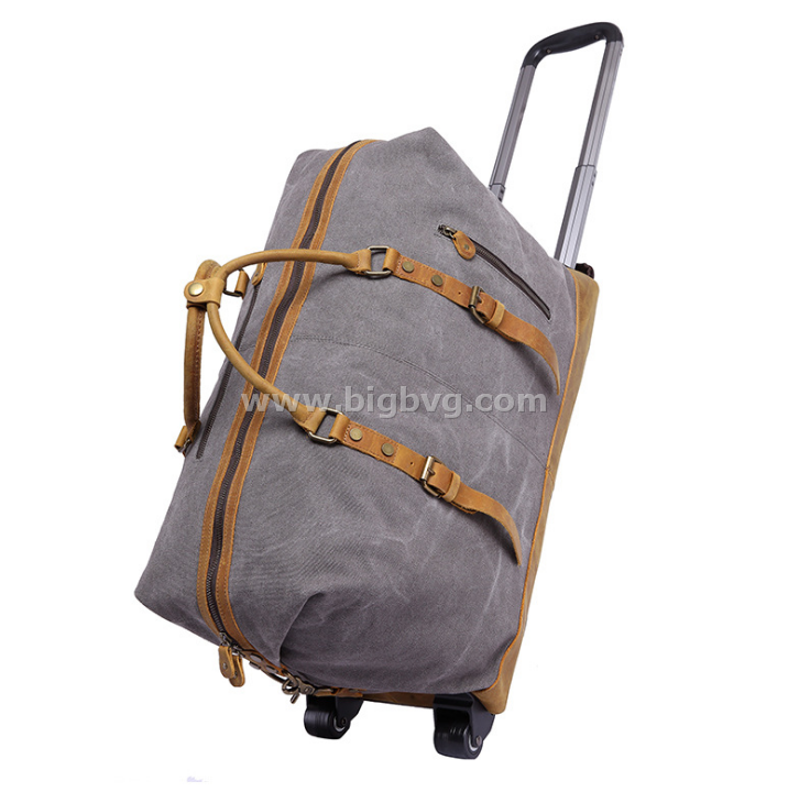 BigBvg Canvas Bag — luggage with wheels mens carry on luggage 859c32fc90ca6