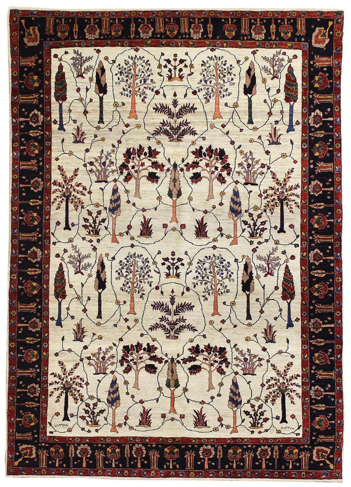 Persian Gabbeh Rugs Gallery Persian Bulurbaff Rug Hand Knotted In Persia Size 7 Feet 1 Inch Es X 10 Feet 1 Inch Es