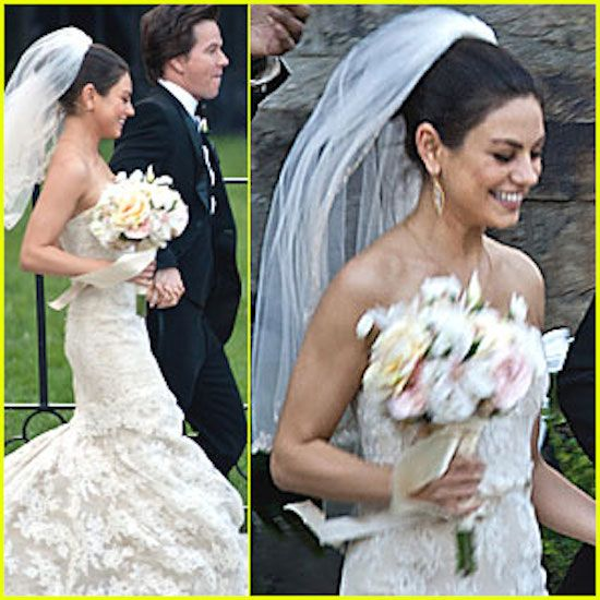 Ashton Kutcher And Mila Kunis Engaged Froufrou Le Bleu Wedding Dresses Wedding Wedding Pics
