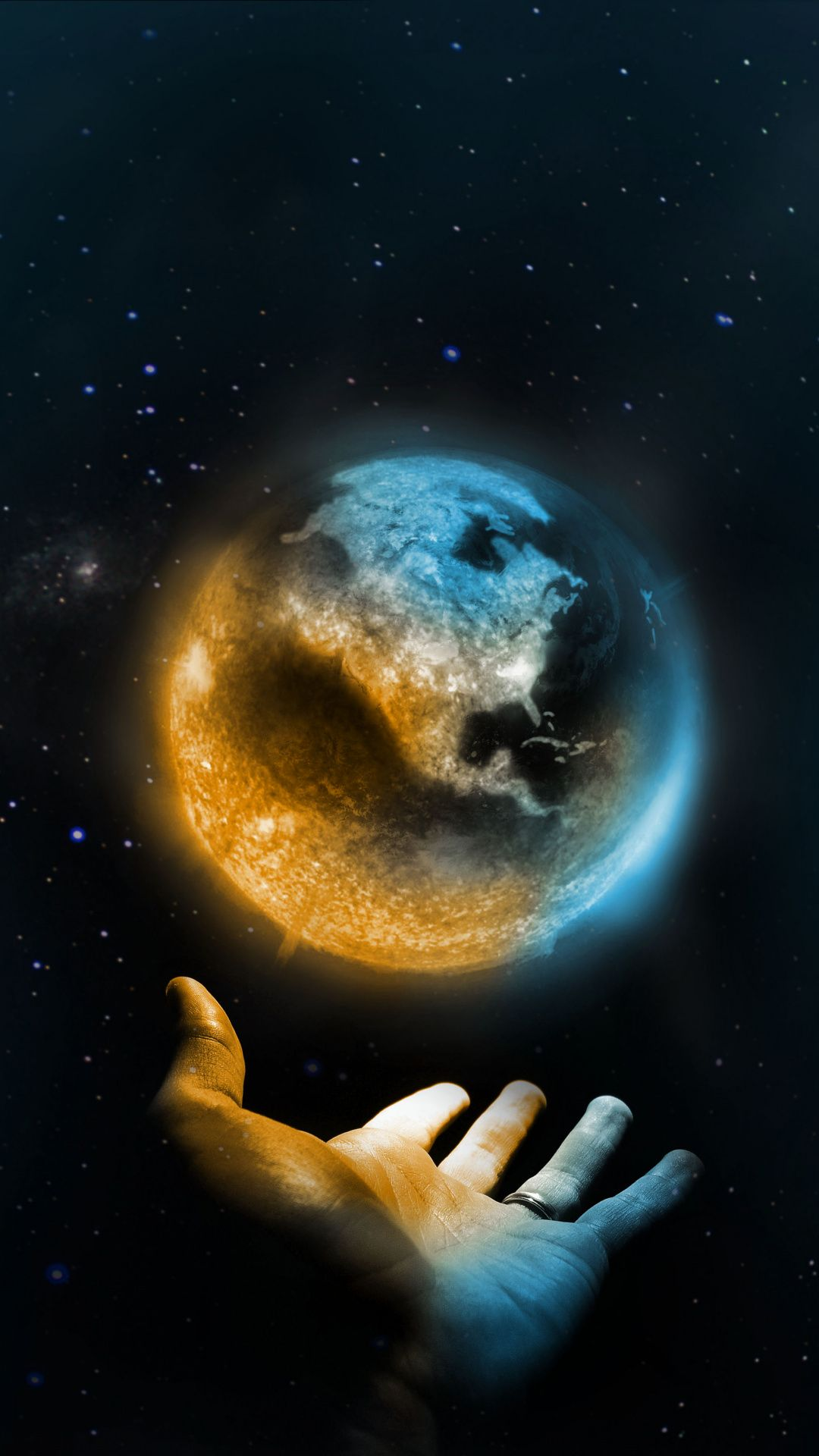 Hand and earth, Wallpaper wallpapers