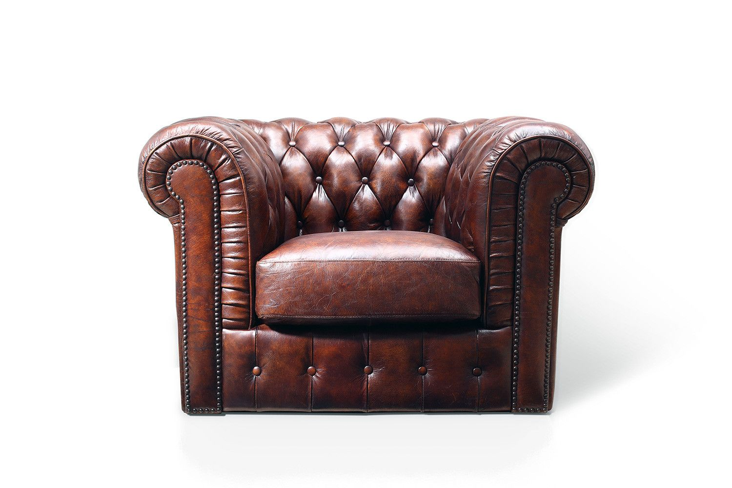 Tufted Leather Chair By Rose Moore
