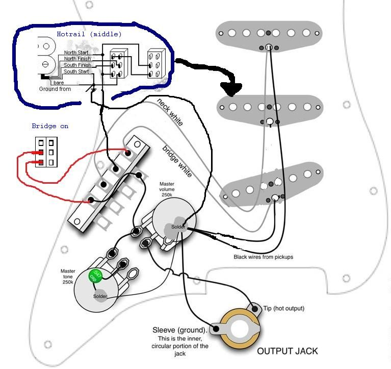 fender bass pick up wire diagram