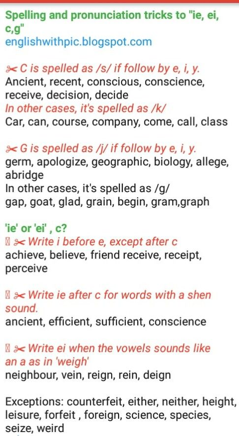 Learn English via pictures and poems: Spelling and ...