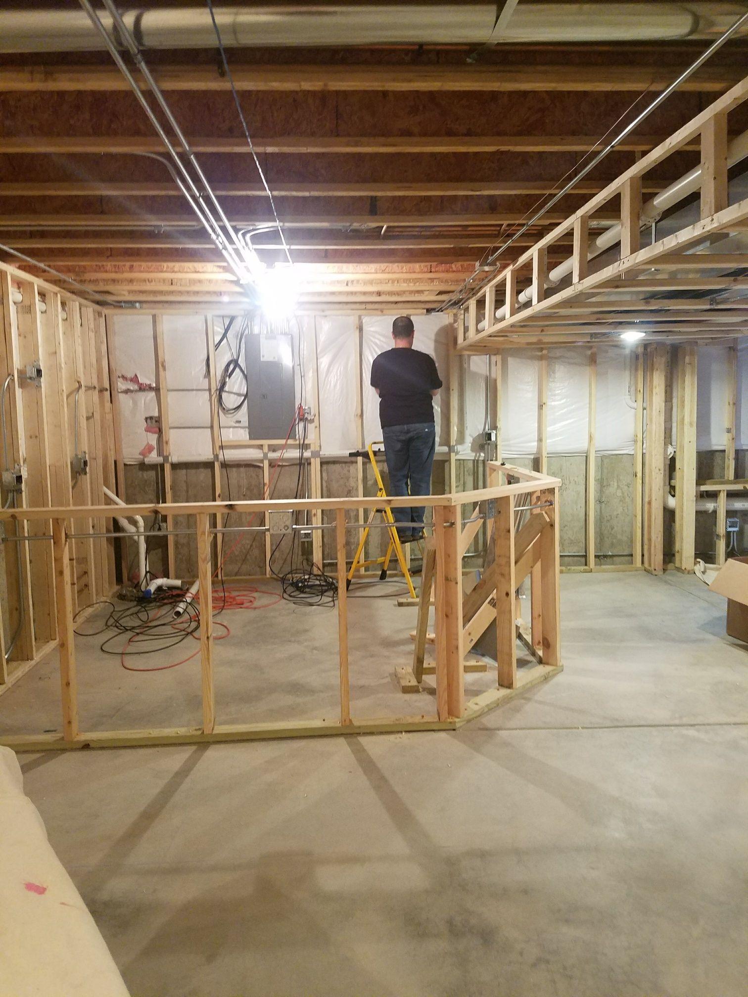 Basement bar framing | Finished Basement Project | Pinterest ...