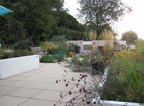 john brookes design modern courtyard garden - Garden Design John Brookes