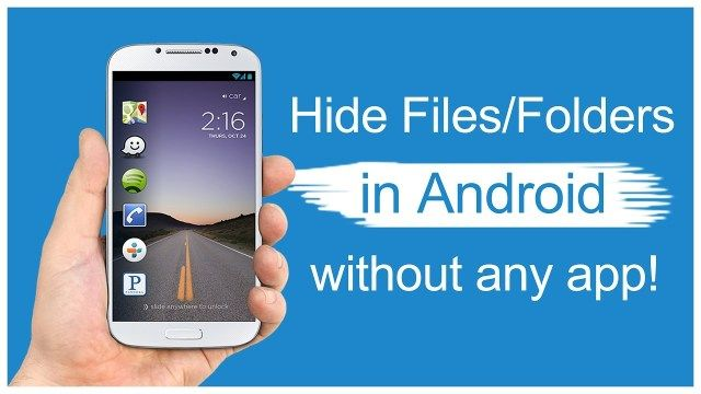 How to hide photos on Android Smartphone without any App