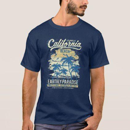 8c178ab6cee California Beach Living in Paradise Endless Summer T-Shirt - summer gifts  season diy template ideas