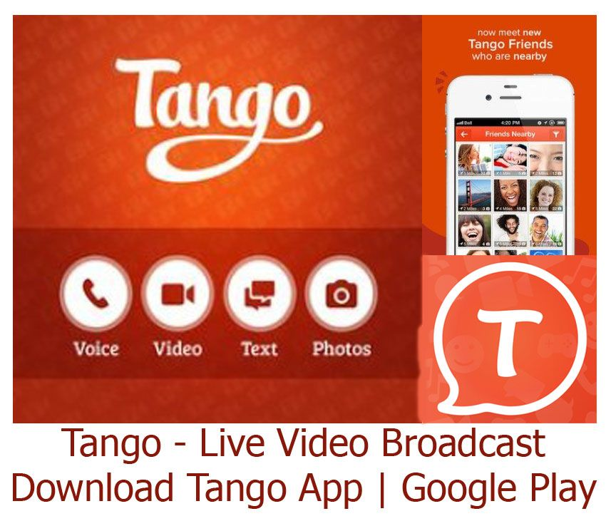Tango app is a free video and audio messaging app which