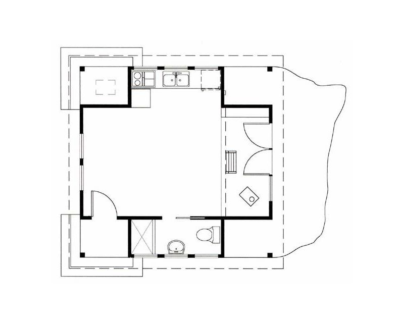 Superb Floor Plan Of A Small Cabin In The Woods On Orcas Island By Download Free Architecture Designs Scobabritishbridgeorg