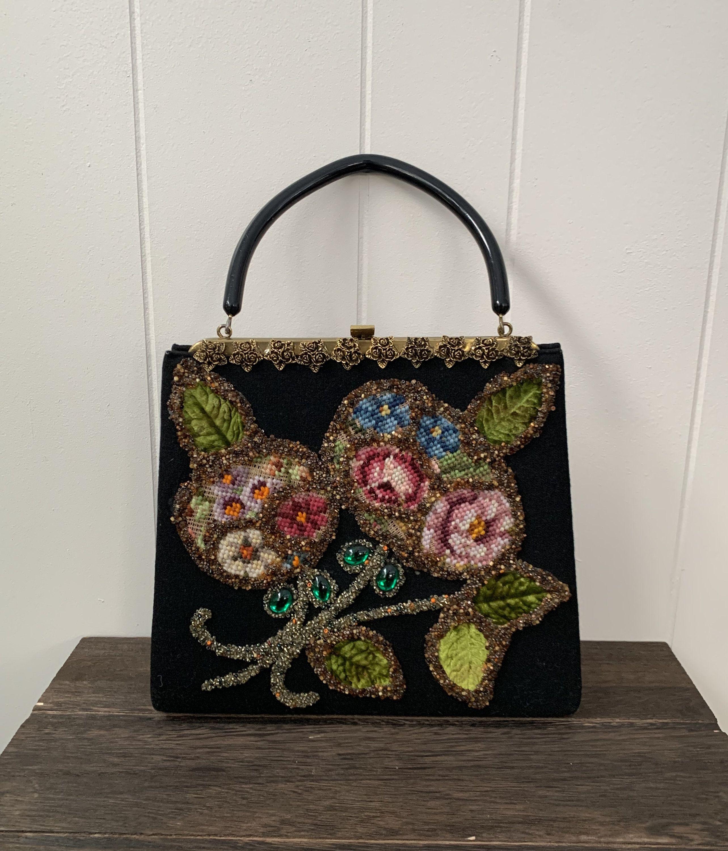 KISSFRIDAY Black Simple Vintage Ethnic Style Printing Round Crossbody Shoulder Handbag
