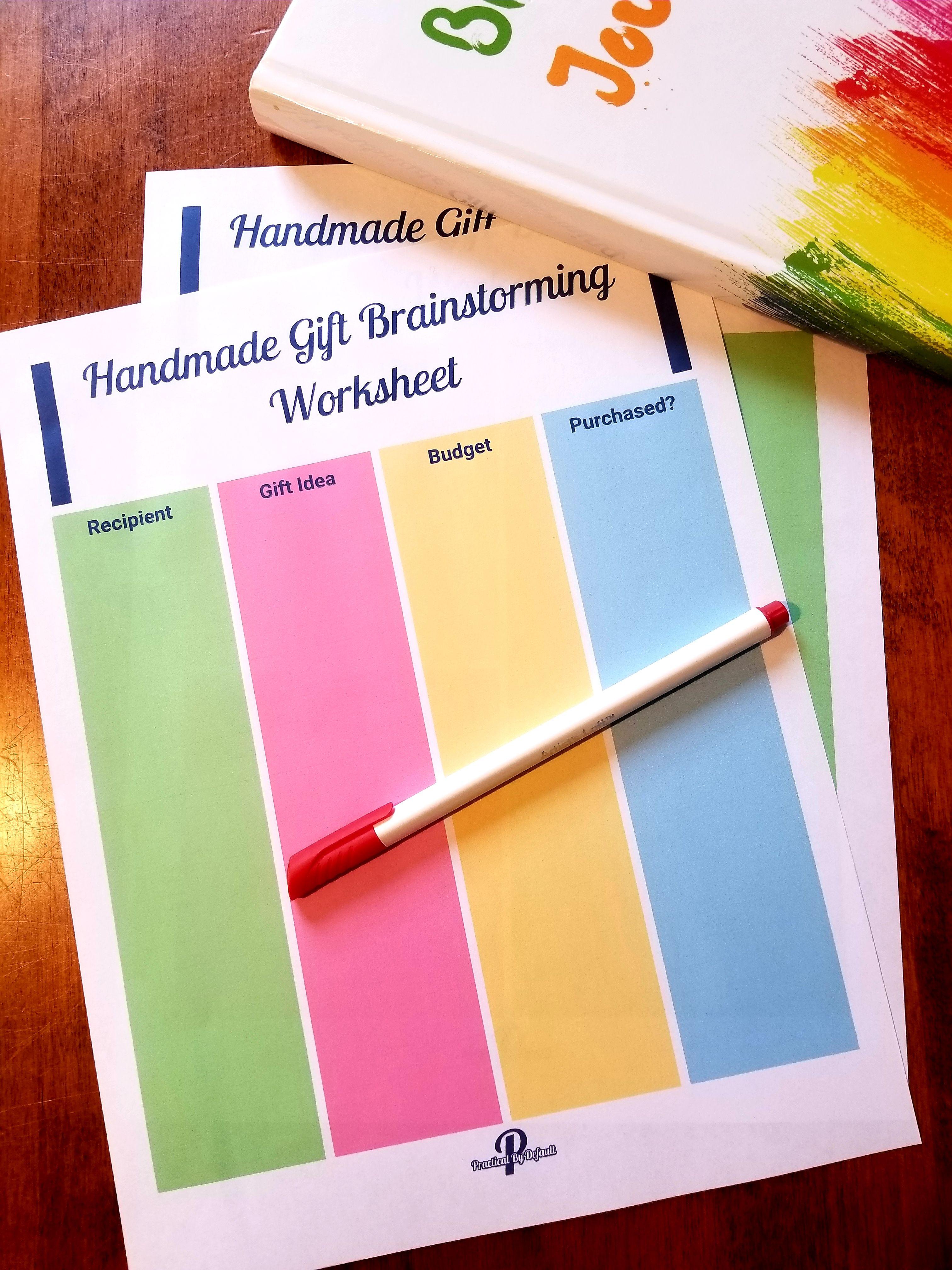 Grab These Free Brainstorming Worksheet To Help You Plan